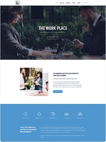 co-working-space website wp website lab holiday florida web design