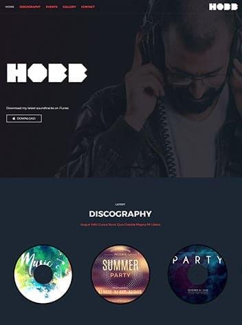 DJ website wp website lab holiday florida web design