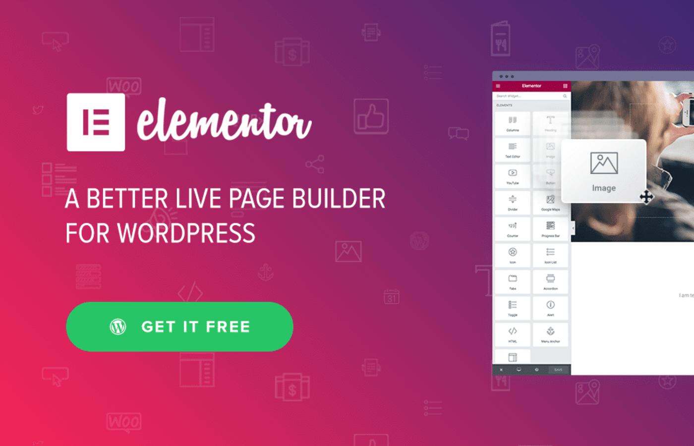 elementor Page Builder wordpress theme download image wp website lab