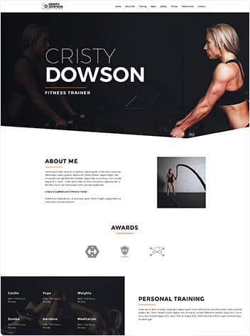 fitness-trainer website wp website lab holiday florida web design