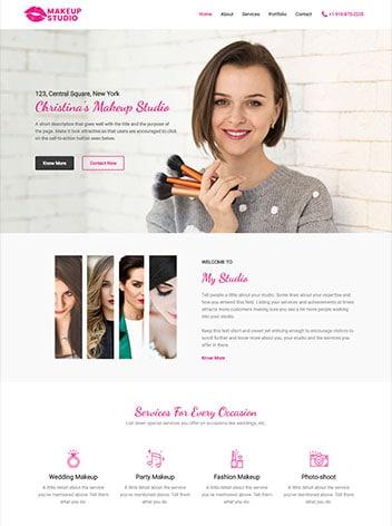 make-up-artist website screenshot wp website lab holiday florida website design company