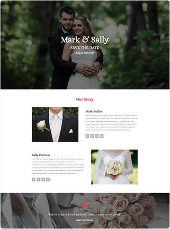 wedding website screenshot wp website lab holiday florida website design company